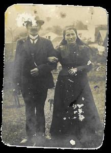 Matthäus und Katharina Scheugenpflug (Hochzeit 1885)